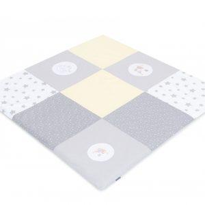 Mehka igralna podloga siva - 120 x 120 cm
