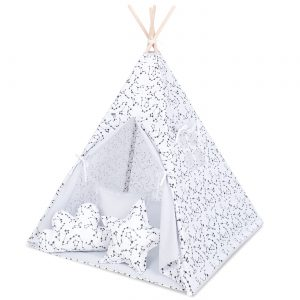 Tipi šotor bel s črnim ozvezdjem
