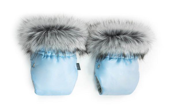 Zimske rokavice za voziček – svetlo modre
