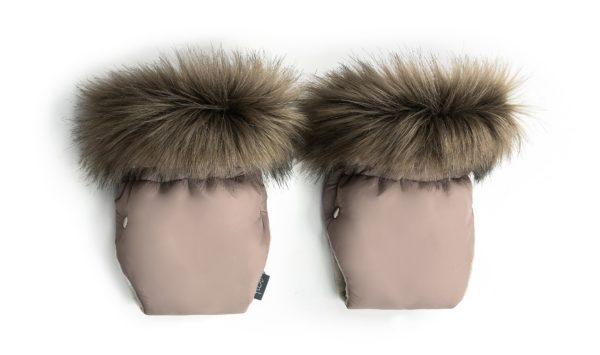 Zimske rokavice za voziček – rjava