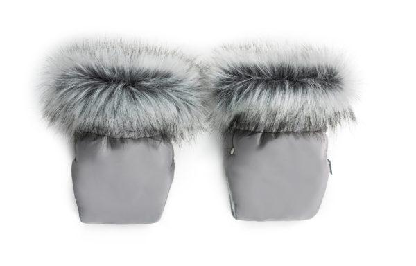 Zimske rokavice za voziček – siva