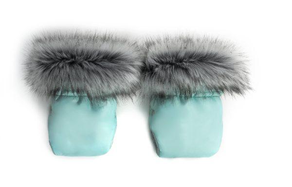 Zimske rokavice za voziček – mint
