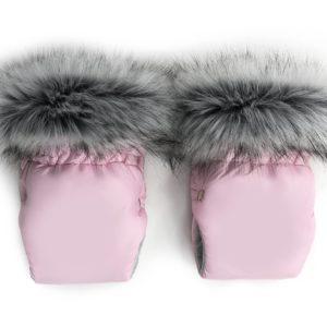 Zimske rokavice za voziček – roza