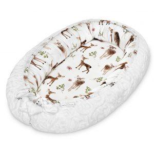 Kokon (gnezdece) iz 100% bambusa Luxe Fawns White