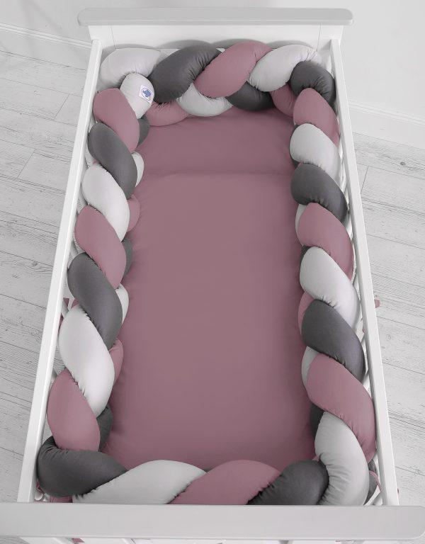 Obroba kitka 360cm indijansko roza, svetlo siva, antracit