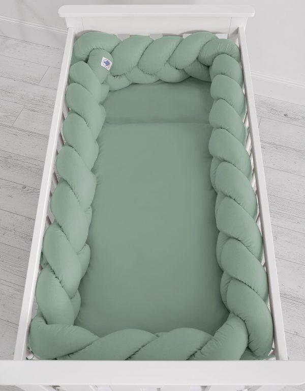 Obroba kitka 360cm pastelno zelena