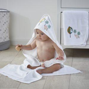3 delni set kopalne brisače, tanjše odejice in odejice iz pliša – Three Little Birds
