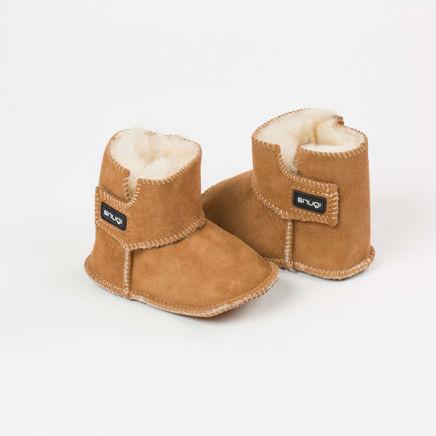 Snugi merino škorenjčki - Brown