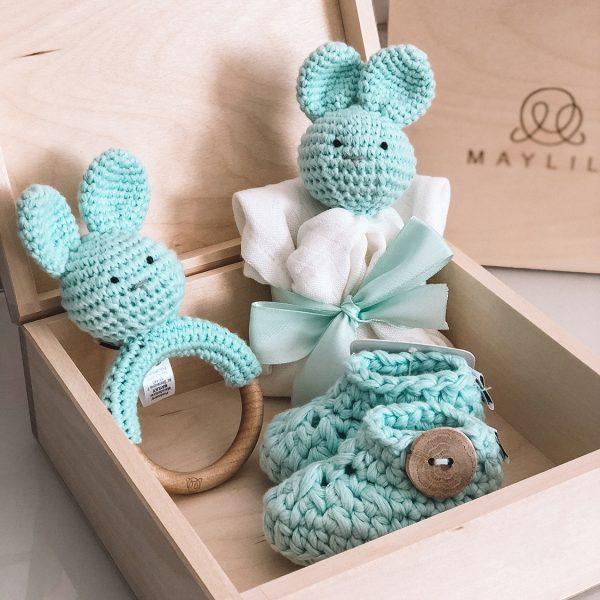 Darilni set za novorojenčka - 4 delni, mint