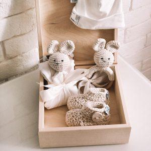 Darilni set za novorojenčka - 4 delni, krem