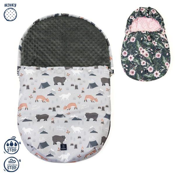 Vodoodporna zimska vreča za jajčko in voziček + GRATIS zimske rokavice zimske živali