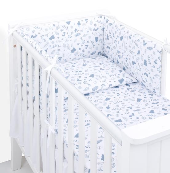 3 delna obojestranska posteljnina bela – Las