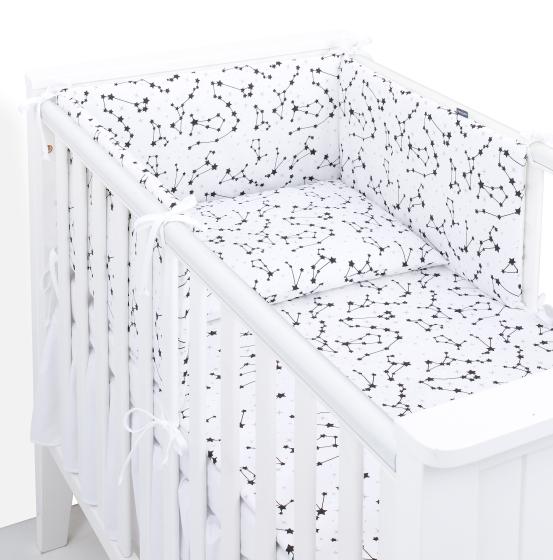 3 delna obojestranska posteljnina bela – Ozvezdje