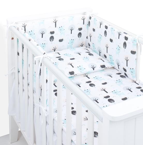 3 delna obojestranska posteljnina bela – Jelenčki