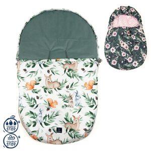 Vodoodporna zimska vreča za jajčko in voziček + GRATIS zimske rokavice srnice