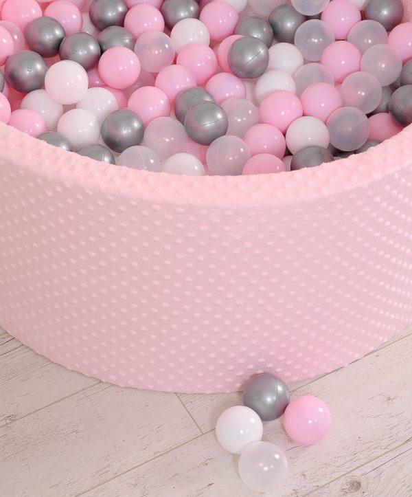 Didaktičen/igralni bazen z žogicami – svetlo roza