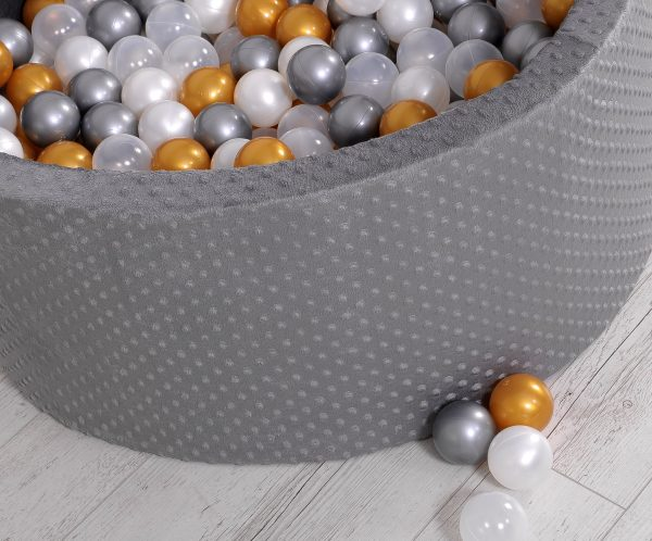 Didaktičen/igralni bazen z žogicami – temno siv