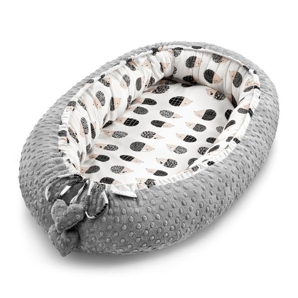 Kokon (gnezdece) iz 100% bambusa Hedgehogs Boys Silver