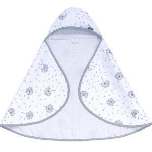 Kopalna brisača iz muslina – sivo bela z regratovimi lučkami