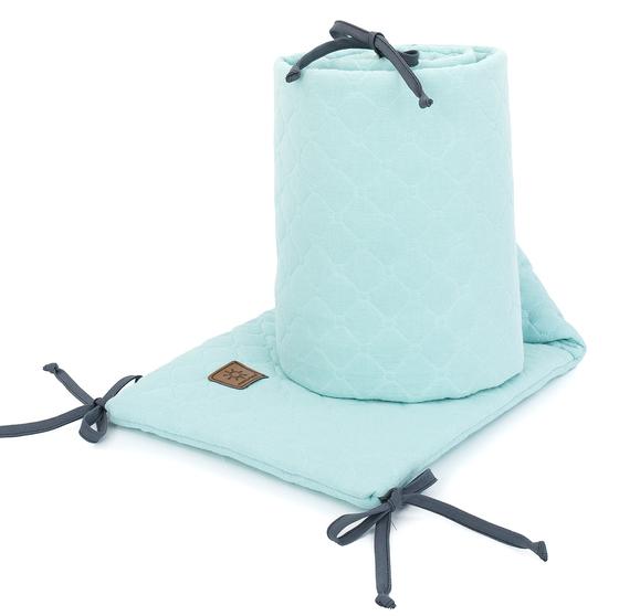 Muslinova obroba za posteljico 30 x 180 cm - mint