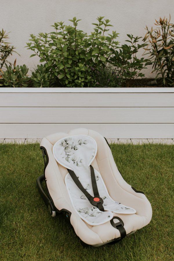 Zračna podloga iz bambusa za otroški avtosedež ali jajčko - Eukaliptus