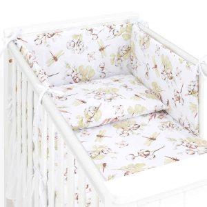 3 delna obojestranska posteljnina - Bombažni cvet