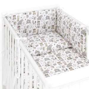 3 delna obojestranska posteljnina - bež živali