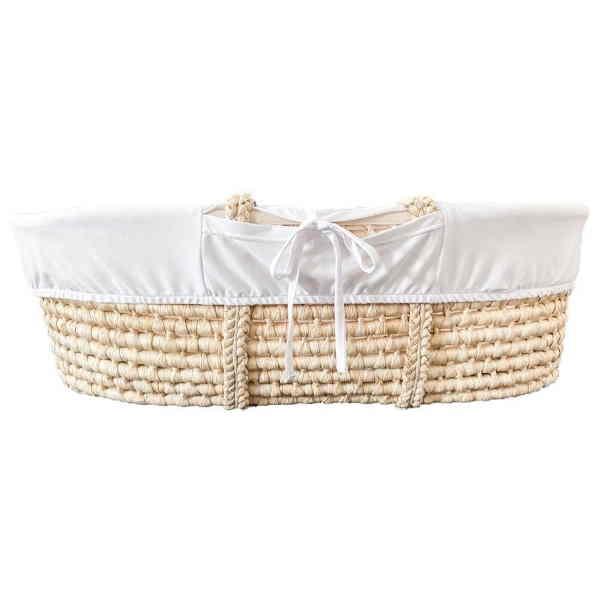 Set Mojzesove košare s stojalom - bela