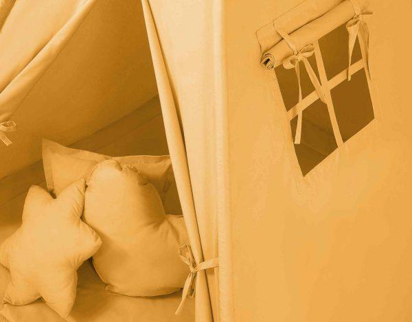 Indijanski šotor s peresi - gorčično rumen
