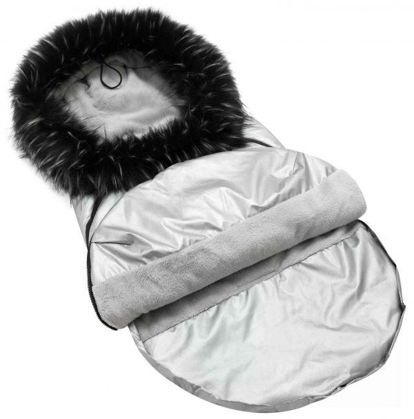 Zimska vreča winter X - srebrna